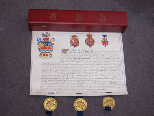 Letters Patent by the College of Arms